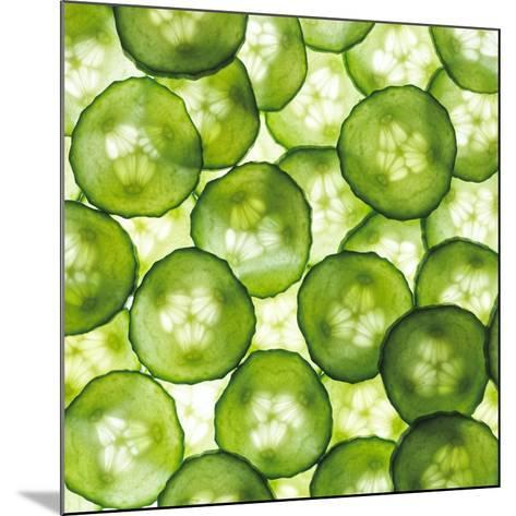 Cucumber Slices-Mark Sykes-Mounted Photographic Print