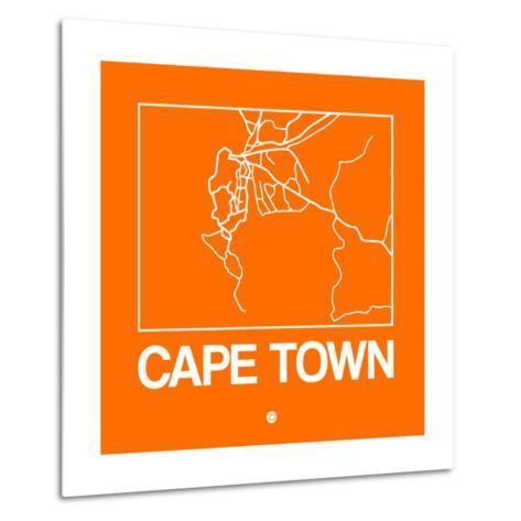 Orange Map of Cape Town-NaxArt-Metal Print