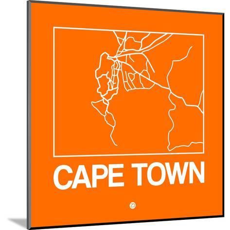 Orange Map of Cape Town-NaxArt-Mounted Art Print
