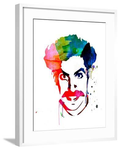 Borat Watercolor-Lora Feldman-Framed Art Print