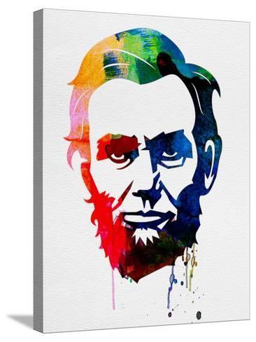 Abraham Lincoln Watercolor-Lora Feldman-Stretched Canvas Print