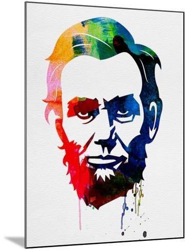Abraham Lincoln Watercolor-Lora Feldman-Mounted Art Print