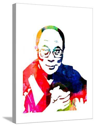 Dalai Lama Watercolor-Lora Feldman-Stretched Canvas Print