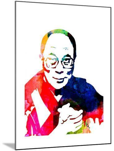 Dalai Lama Watercolor-Lora Feldman-Mounted Art Print