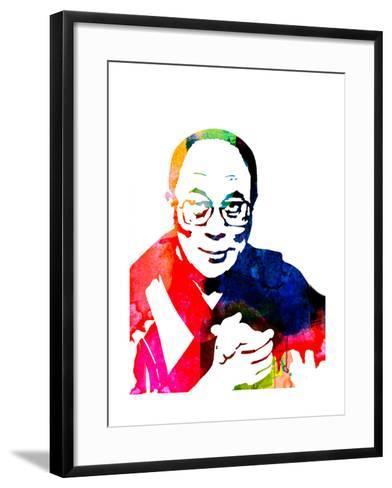 Dalai Lama Watercolor-Lora Feldman-Framed Art Print
