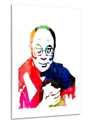 Dalai Lama Watercolor-Lora Feldman-Metal Print