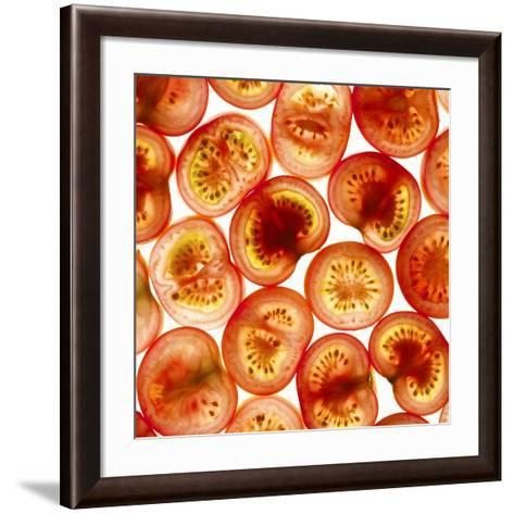 Tomato Slices-Mark Sykes-Framed Art Print