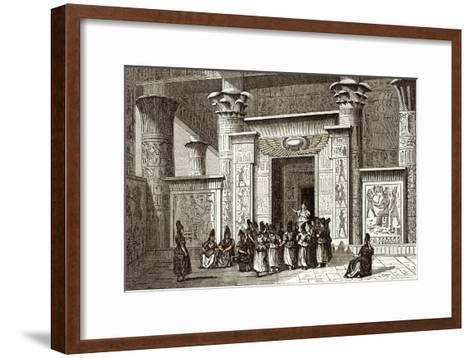 Pythagoras And Egyptian Priests-Sheila Terry-Framed Art Print