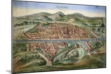 16th Century Plan of Florence-Sheila Terry-Mounted Photographic Print