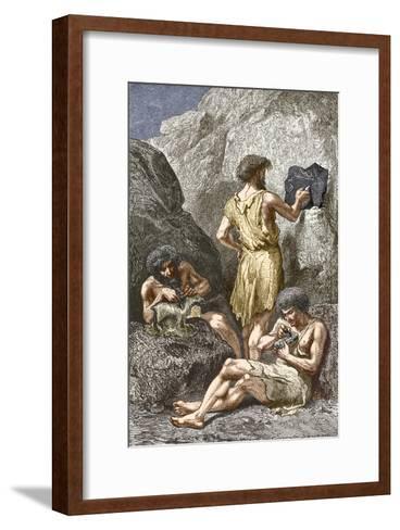 Stone Age Artists-Sheila Terry-Framed Art Print