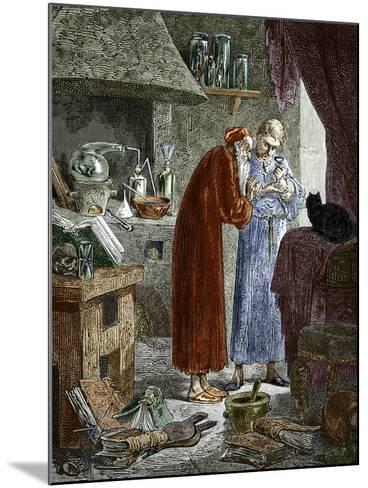Jan Baptiste Van Helmont And An Alchemist-Sheila Terry-Mounted Photographic Print