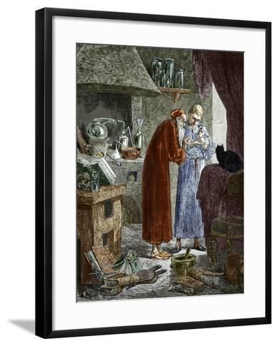 Jan Baptiste Van Helmont And An Alchemist-Sheila Terry-Framed Art Print