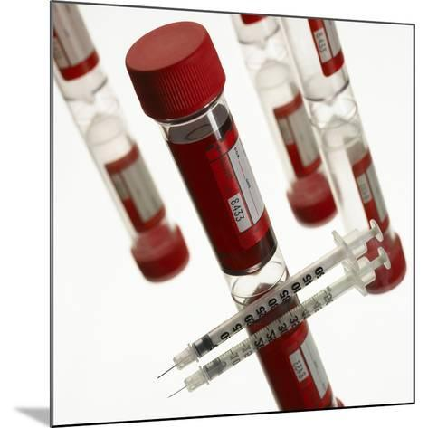 Blood Samples And Syringe-Mark Sykes-Mounted Photographic Print
