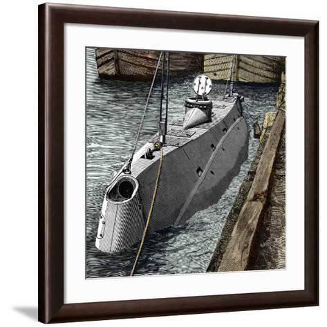 Holland Submarine, New York, 1890s-Sheila Terry-Framed Art Print