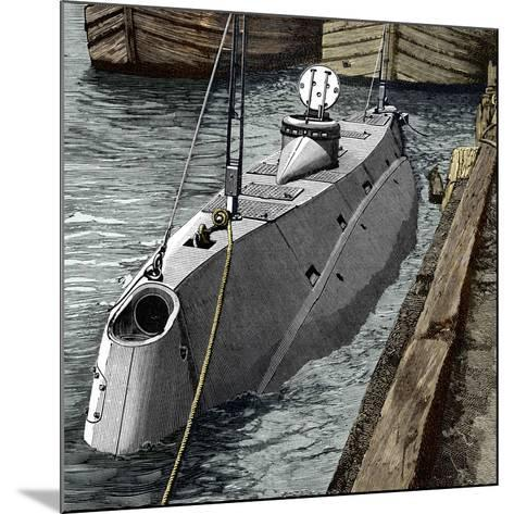 Holland Submarine, New York, 1890s-Sheila Terry-Mounted Photographic Print