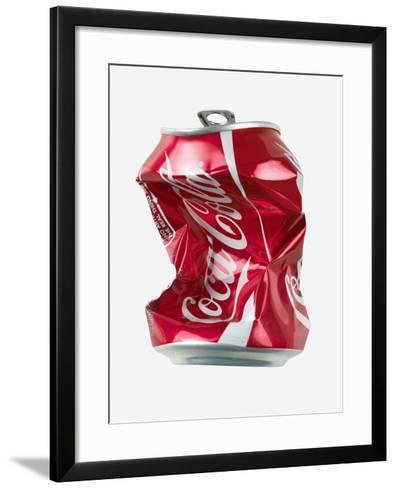 Crushed Coca Cola Can Cut-out-Mark Sykes-Framed Art Print