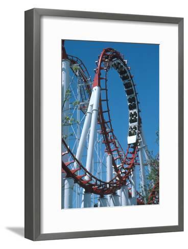 Loop Section of a Rollercoaster Ride-Kaj Svensson-Framed Art Print