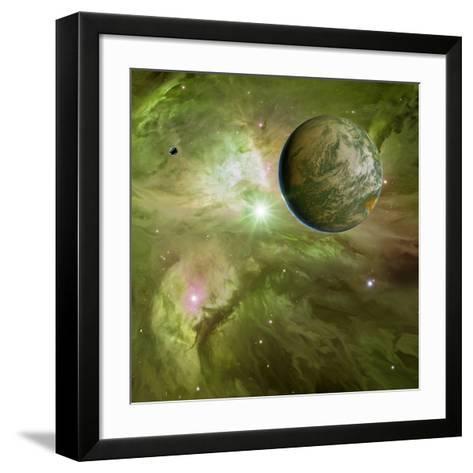 Earthlike Planet In Orion Nebula, Artwork-Detlev Van Ravenswaay-Framed Art Print