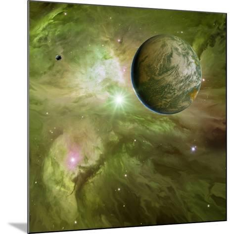 Earthlike Planet In Orion Nebula, Artwork-Detlev Van Ravenswaay-Mounted Photographic Print