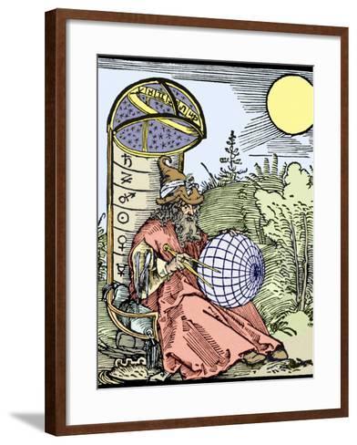 Durer's Astronomer, 1504-Sheila Terry-Framed Art Print