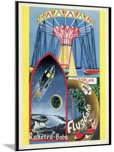 Viennese Fun Fair, Historical Post Card-Detlev Van Ravenswaay-Mounted Photographic Print