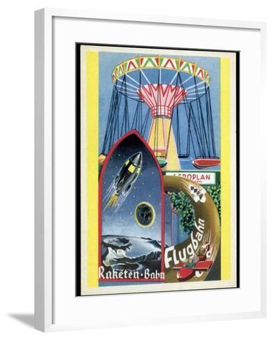 Viennese Fun Fair, Historical Post Card-Detlev Van Ravenswaay-Framed Art Print