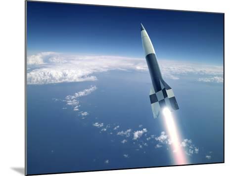 First V-2 Rocket Launch, Artwork-Detlev Van Ravenswaay-Mounted Photographic Print
