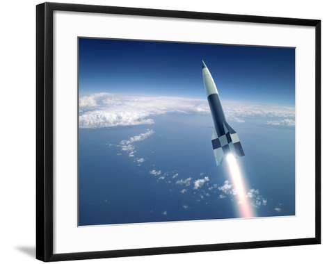 First V-2 Rocket Launch, Artwork-Detlev Van Ravenswaay-Framed Art Print