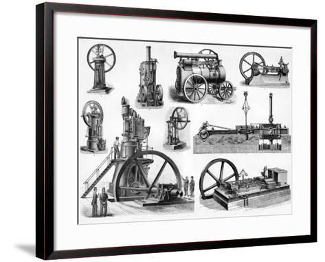 19th Century Steam Engines-Sheila Terry-Framed Art Print