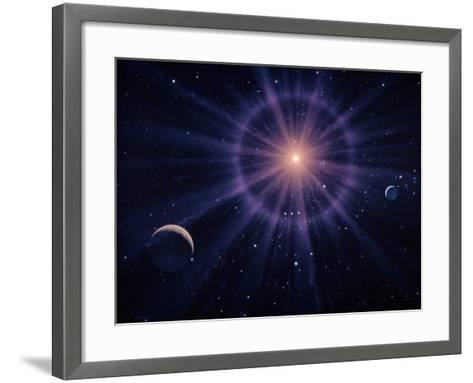 Art of Betelgeuse As Supernova-Joe Tucciarone-Framed Art Print