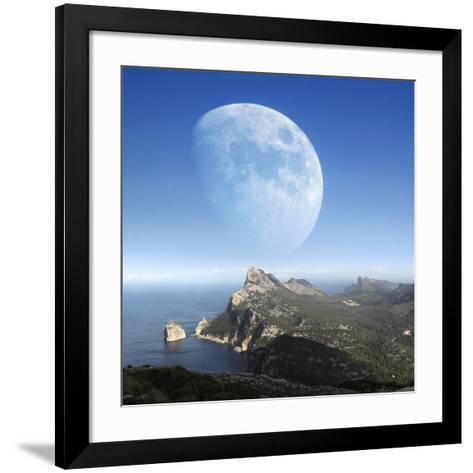 Moonrise Over Mallorca-Detlev Van Ravenswaay-Framed Art Print
