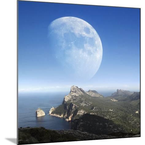 Moonrise Over Mallorca-Detlev Van Ravenswaay-Mounted Photographic Print