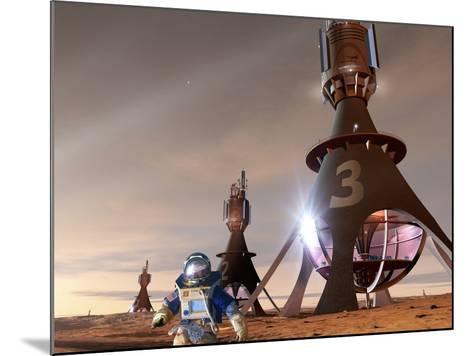 Space Tourism on Mars-Detlev Van Ravenswaay-Mounted Photographic Print