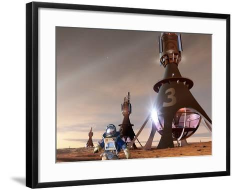 Space Tourism on Mars-Detlev Van Ravenswaay-Framed Art Print