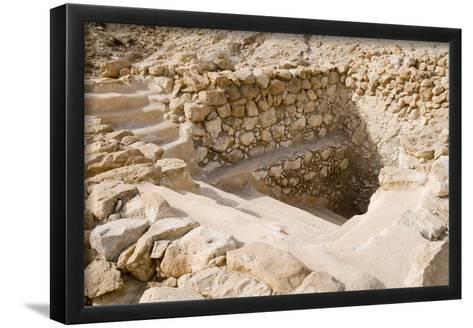 Ancient Ritual Bath In Qumran--Framed Art Print