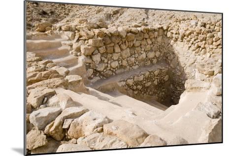 Ancient Ritual Bath In Qumran--Mounted Photographic Print
