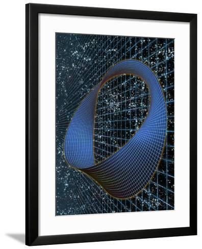 Curved Space-time--Framed Art Print