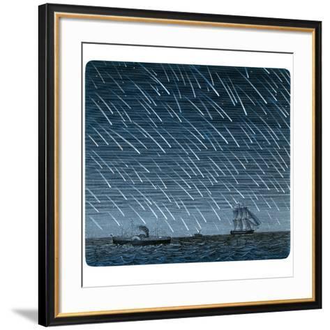 Leonid Meteor Shower of 1866-Detlev Van Ravenswaay-Framed Art Print