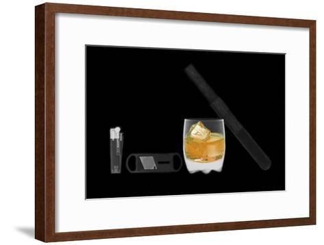 X-ray of Whiskey And Cigar--Framed Art Print