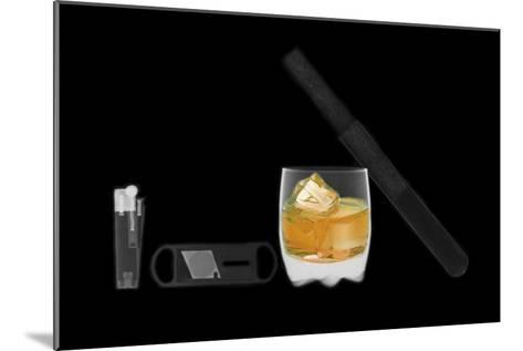 X-ray of Whiskey And Cigar--Mounted Photographic Print
