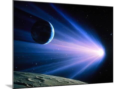 Artwork of a Comet Passing Earth-Joe Tucciarone-Mounted Photographic Print