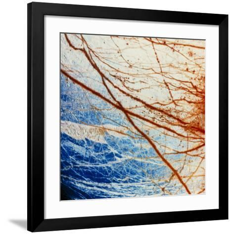 Galileo Spacecraft Image of Europa's Surface--Framed Art Print