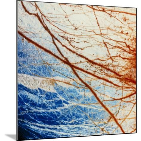 Galileo Spacecraft Image of Europa's Surface--Mounted Photographic Print