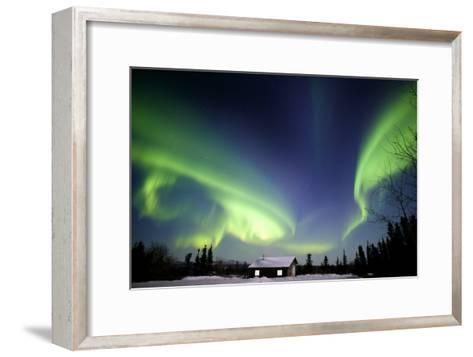 Aurora Borealis In Alaska-Chris Madeley-Framed Art Print