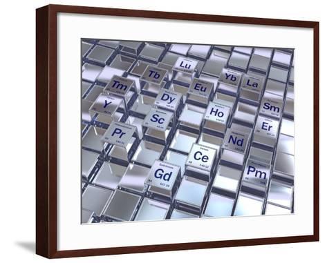 Rare Earth Metals, Conceptual Image-David Mack-Framed Art Print
