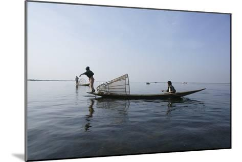 Inle Lak Traditional Fishing--Mounted Photographic Print