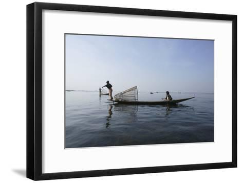 Inle Lak Traditional Fishing--Framed Art Print