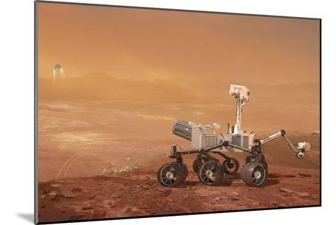 Curiosity Rover on Mars, Artwork--Mounted Photographic Print