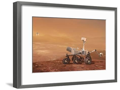Curiosity Rover on Mars, Artwork--Framed Art Print