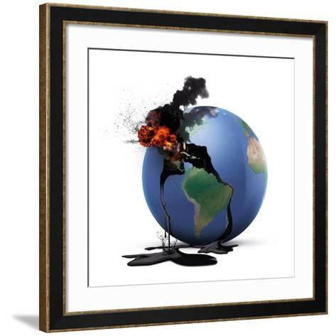 Oil Disaster, Conceptual Image--Framed Art Print